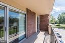 Balcony access from living room & bedroom - 1300 ARMY NAVY DR #225, ARLINGTON
