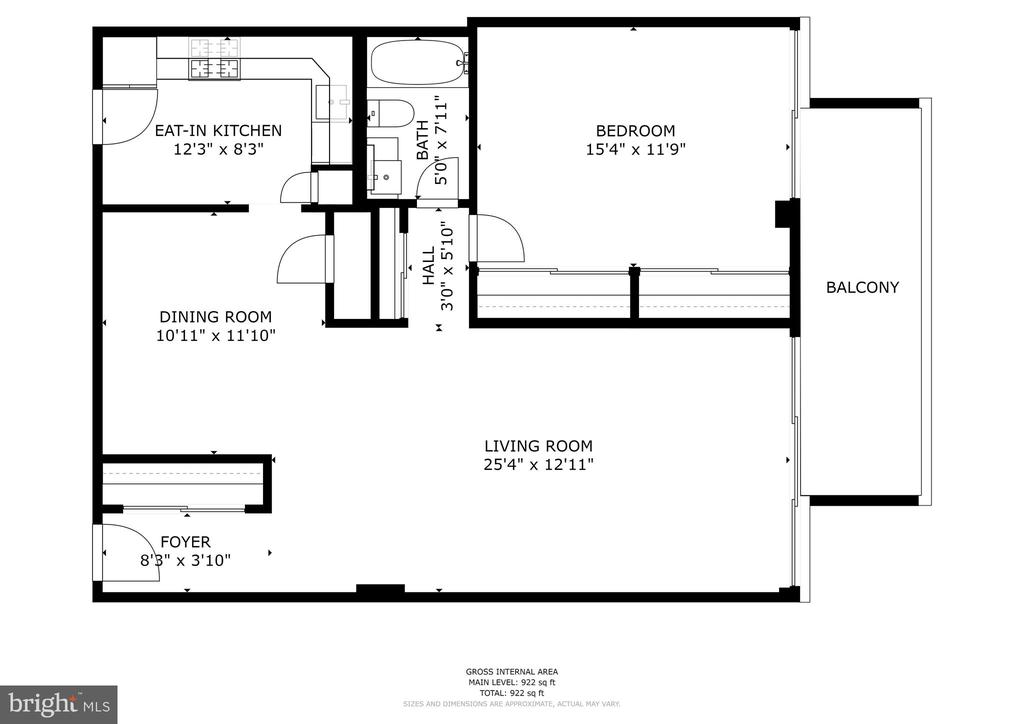 Floor plan - 1300 ARMY NAVY DR #225, ARLINGTON
