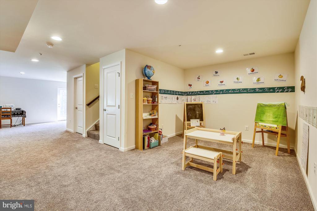 Finished BSMT Sunny Walkout + Storage Area - 14425 BENTLEY PARK DR, BURTONSVILLE