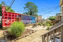 Patio with one of a kind mural by DC artist Eric B - 1407 WEBSTER ST NW, WASHINGTON