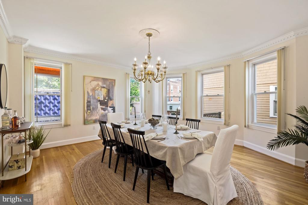 Spacious Dining Room for 12! - 1407 WEBSTER ST NW, WASHINGTON