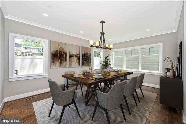 VIRTUALLY STAGED DINING ROOM - 5606 FOREST PL, BETHESDA