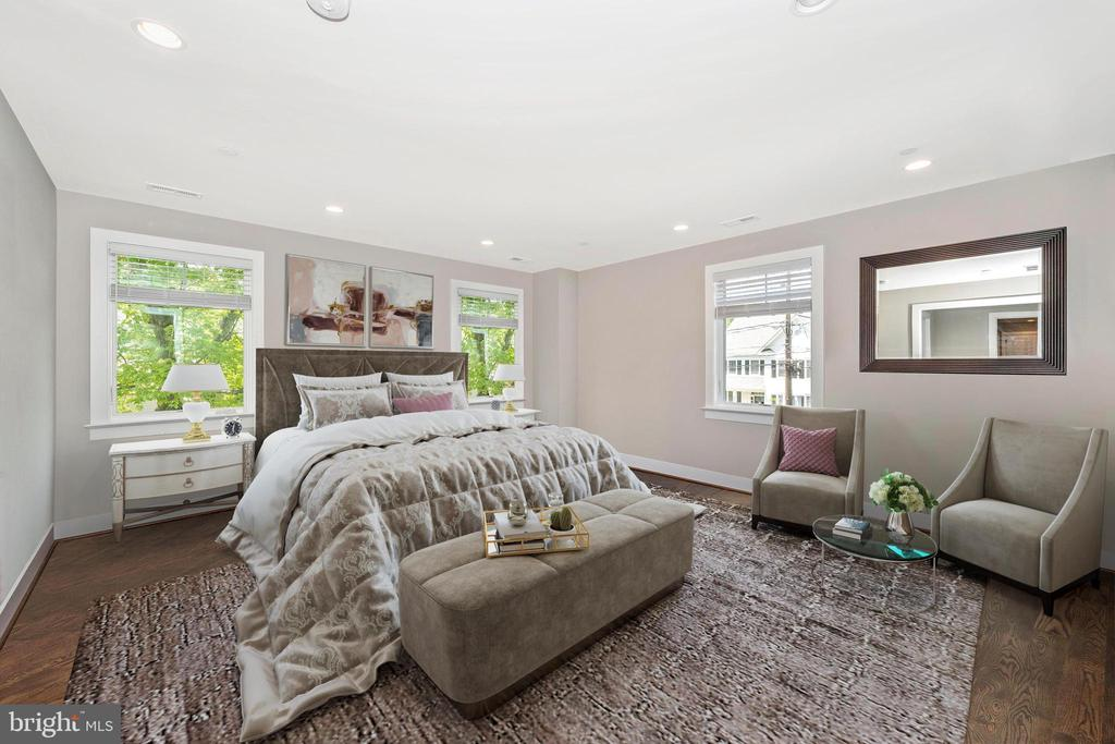 VIRTUALLY STAGED MASTER BEDROOM - 5606 FOREST PL, BETHESDA
