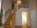 Stairway view from front door entry - 43114 LLEWELLYN CT, LEESBURG