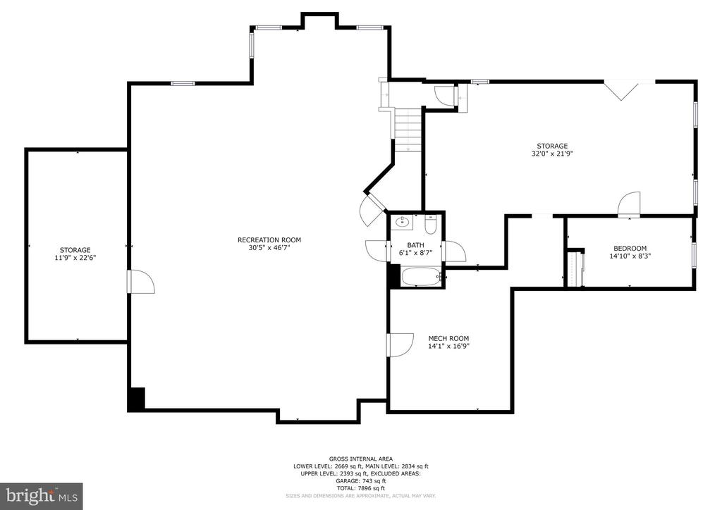 Lower Level Floor Plan - 11227 INDEPENDENCE WAY, ELLICOTT CITY