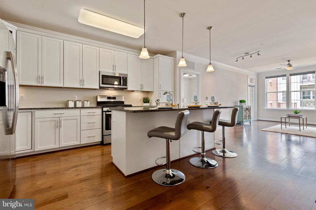 Contemporary and large open concept kitchen - 13740 ENDEAVOUR DR #307, HERNDON