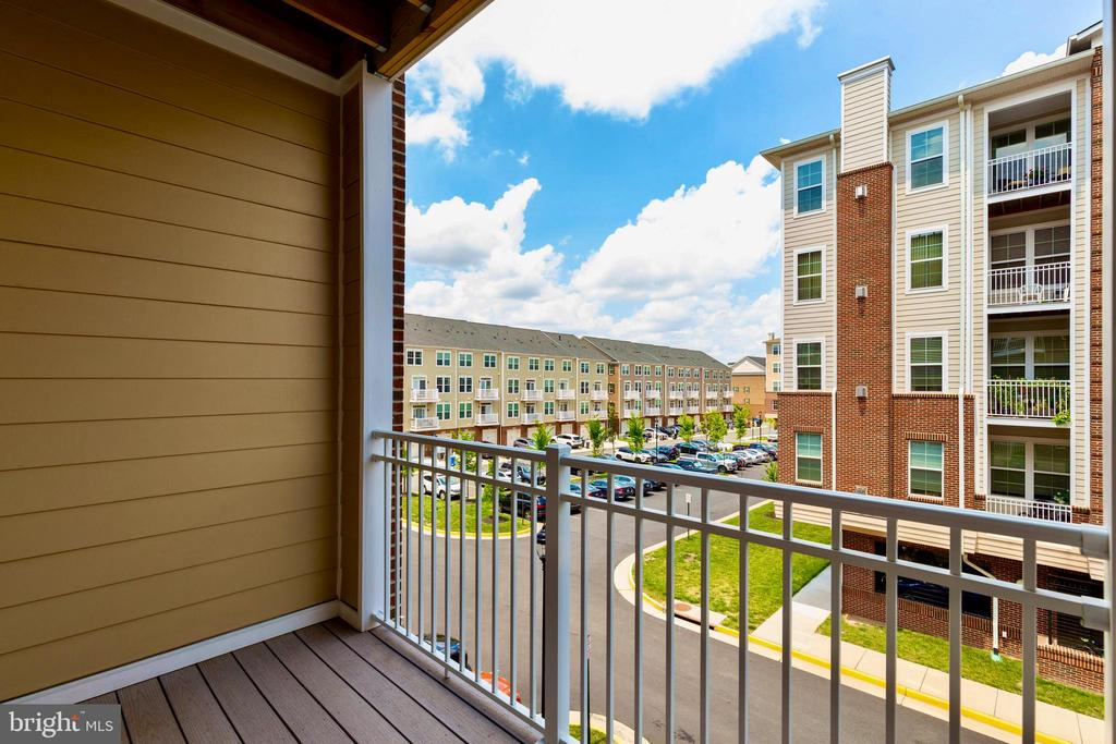 Balcony off of living room - 13740 ENDEAVOUR DR #307, HERNDON
