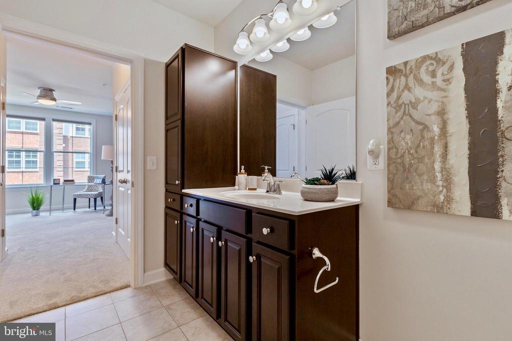 Built in cabinets for guest bathroom - 13740 ENDEAVOUR DR #307, HERNDON
