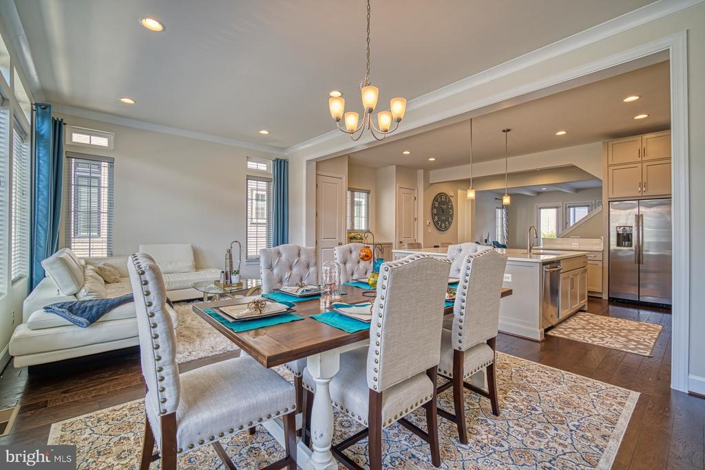 Kitchen Flows Nicely into Dining Room - 42298 ASHMEAD TER, BRAMBLETON