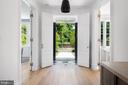 Entry Vestibule with Original Marble Floor - 2302 KALORAMA RD NW, WASHINGTON