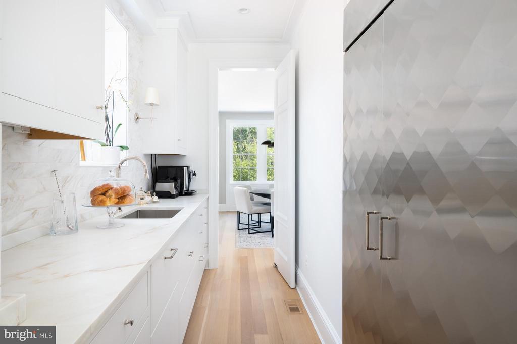 Butler's Pantry with Custom Refrigerator/Freezer - 2302 KALORAMA RD NW, WASHINGTON