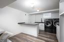 Laundry Room with Island and XL Washer/Dryer - 2302 KALORAMA RD NW, WASHINGTON