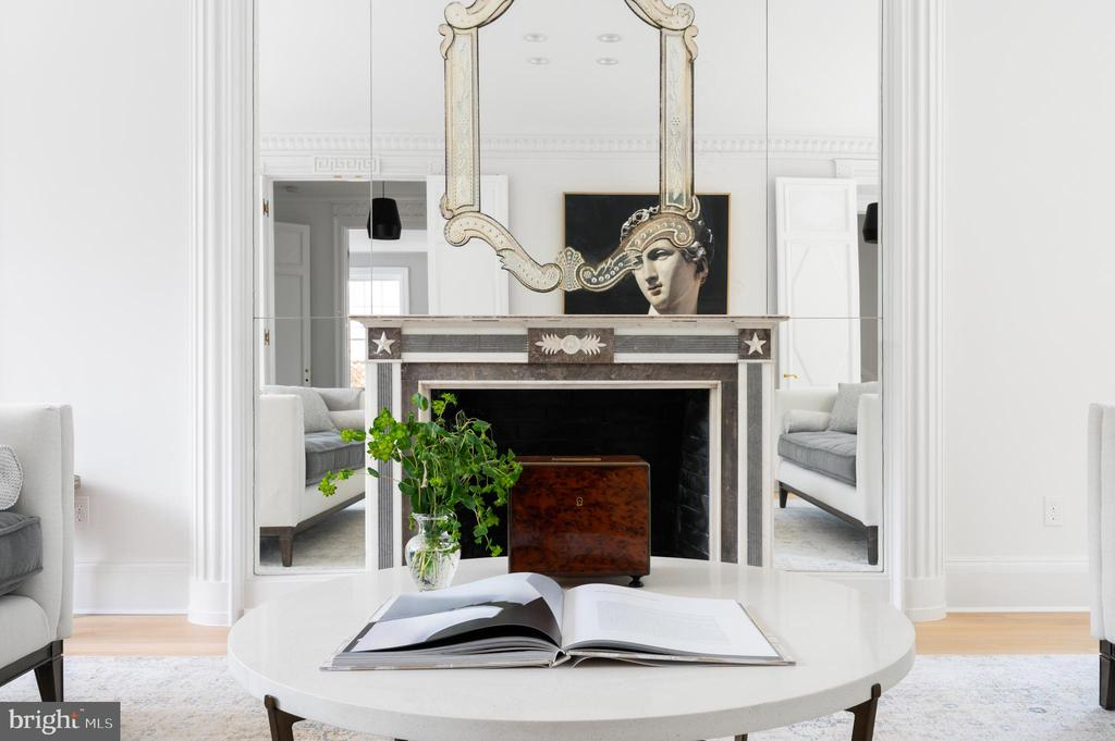 Living Room with Wood Burning Fireplace - 2302 KALORAMA RD NW, WASHINGTON