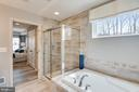 Owner's Suite Bath with Soaking Tub - 18530 TRAXELL WAY, GAITHERSBURG