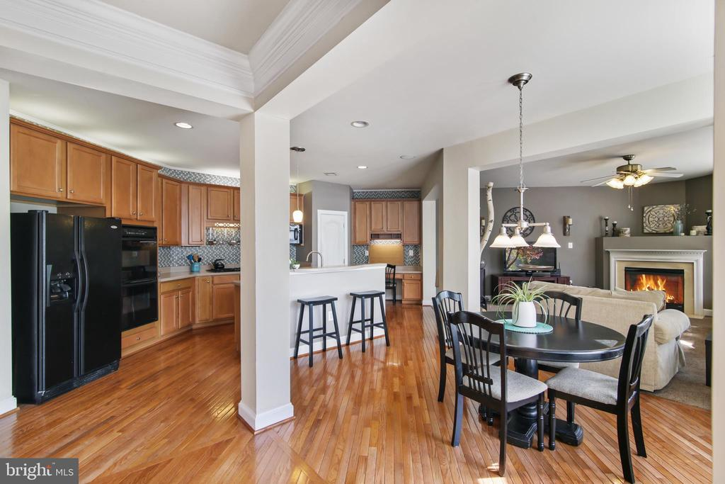 View from dining room to kitchen - 19072 CRIMSON CLOVER TER, LEESBURG