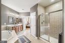 Master Bathroom with walk in shower - 19072 CRIMSON CLOVER TER, LEESBURG