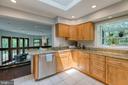 Kitchen w granite, stainless steel & breakfast bar - 3408 GREENTREE DR, FALLS CHURCH