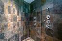 Luxurious en suite master bath with spa shower! - 3408 GREENTREE DR, FALLS CHURCH