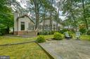 Rear view from the patio - 3408 GREENTREE DR, FALLS CHURCH