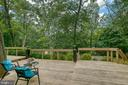 Deck with wooded tree view - 3408 GREENTREE DR, FALLS CHURCH