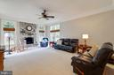 Family Room with Wood Burning Fireplace - 3717 STONEWALL MANOR DR, TRIANGLE