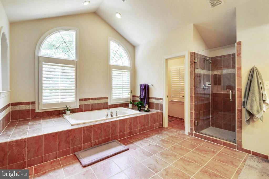 Master Bath shower with dual shower heads - 3717 STONEWALL MANOR DR, TRIANGLE