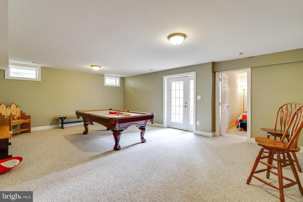 Basement Recreation Room with Walk-Out - 3717 STONEWALL MANOR DR, TRIANGLE