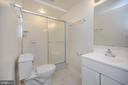 Full finished bathroom basement level - 6 BRANTFORD DR, STAFFORD