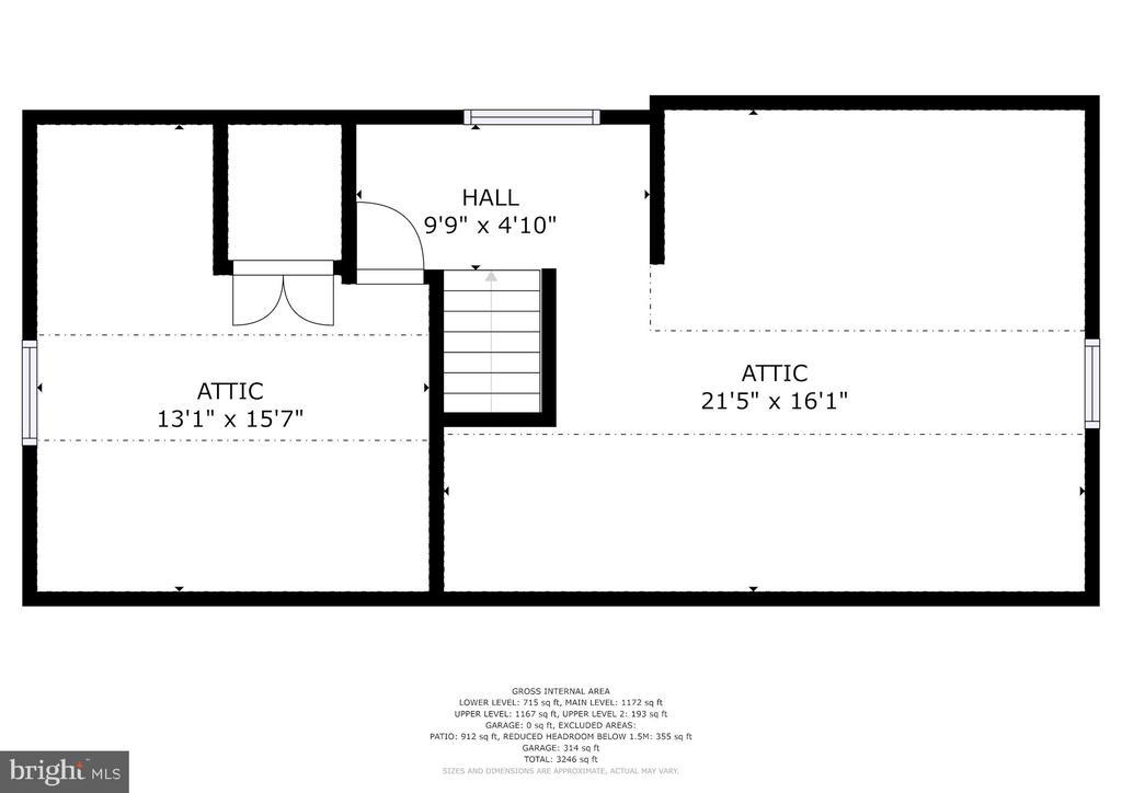 Upper Level 2/Attic - 5335 43RD ST NW, WASHINGTON