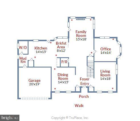 Main level floor plan - 20810 AMBERVIEW CT, ASHBURN