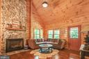 New stone propane fireplace! Cathedral ceiling! - 13533 CATOCTIN HOLLOW RD, THURMONT