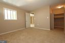 Lower level legal 5th bedroom - 118 CLAUDE CT SE, LEESBURG