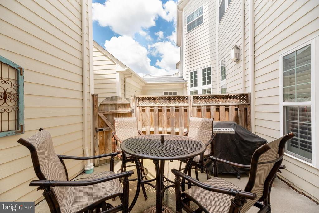 Fabulous private patio great for cooktops. - 19441 COPPERMINE SQ, LEESBURG