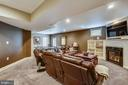 Remodeled recreation room has a gas fireplace - 9704 WOODFIELD CT, NEW MARKET
