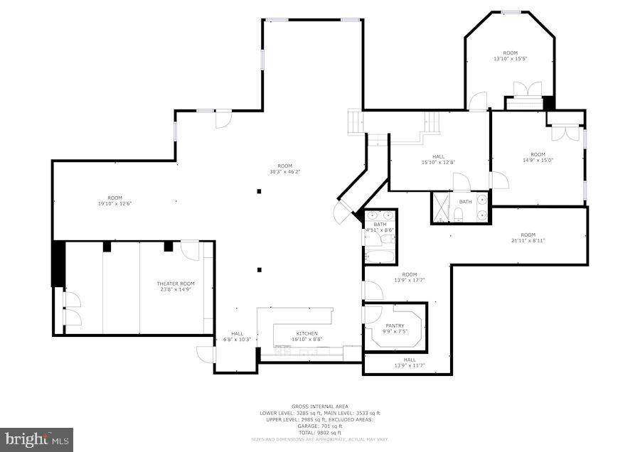 Lower Level Floor Plan - 4962 VALLEY VIEW OVERLOOK, ELLICOTT CITY
