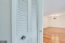 Linen closet by the bathroom - 2939 VAN NESS ST NW #1017, WASHINGTON