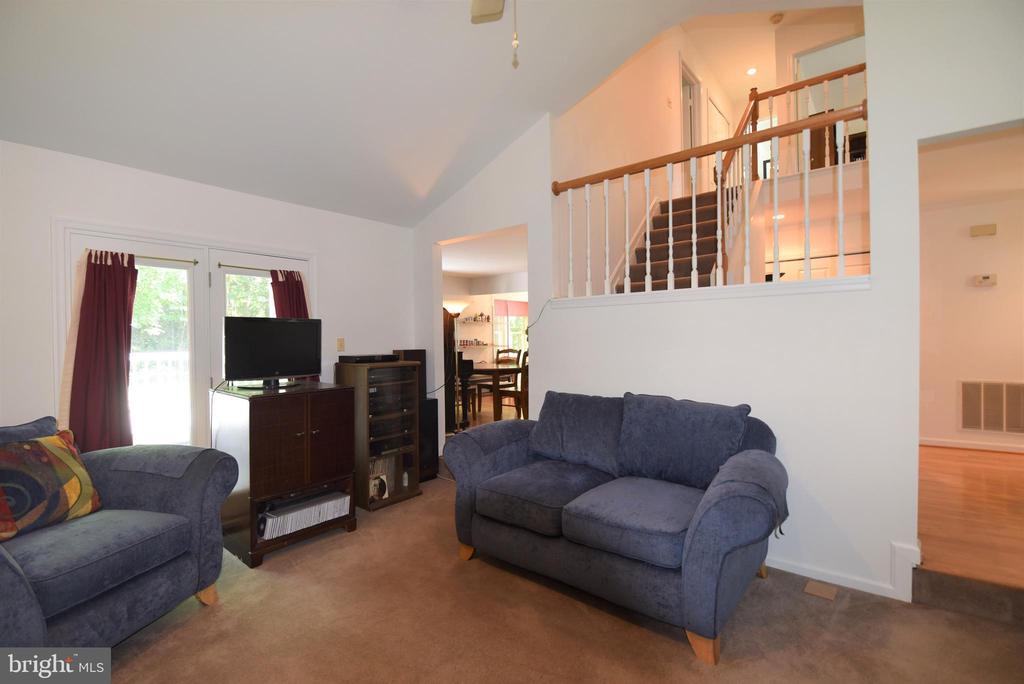 Family Room w/ wood burning fireplace - 720 DONALDSON LN SW, LEESBURG