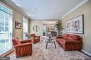 Formal Living Room w/ Crown Moldings - 26124 TALAMORE DR, CHANTILLY