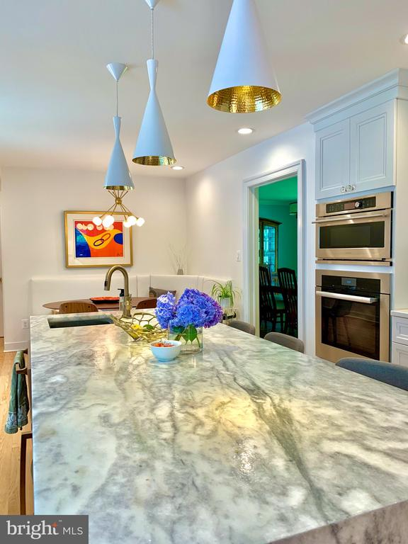 Suede Marble Waterfall Countertops...All Miele - 1960 BARTON HILL RD, RESTON