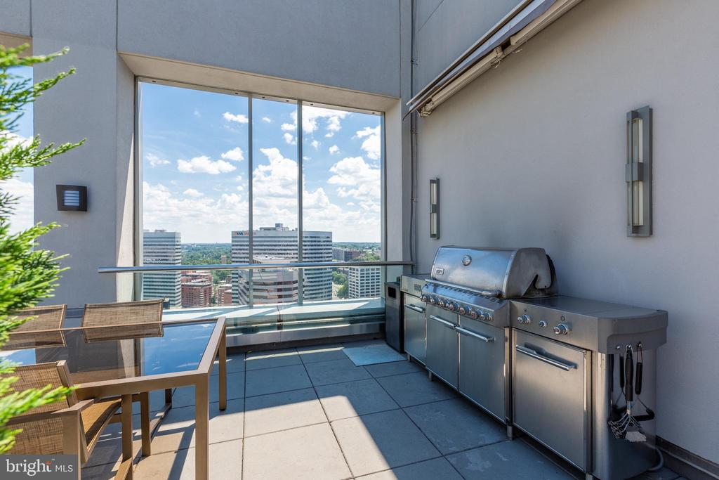 Multiple grills on the rooftop - 1111 19TH ST N #2606, ARLINGTON