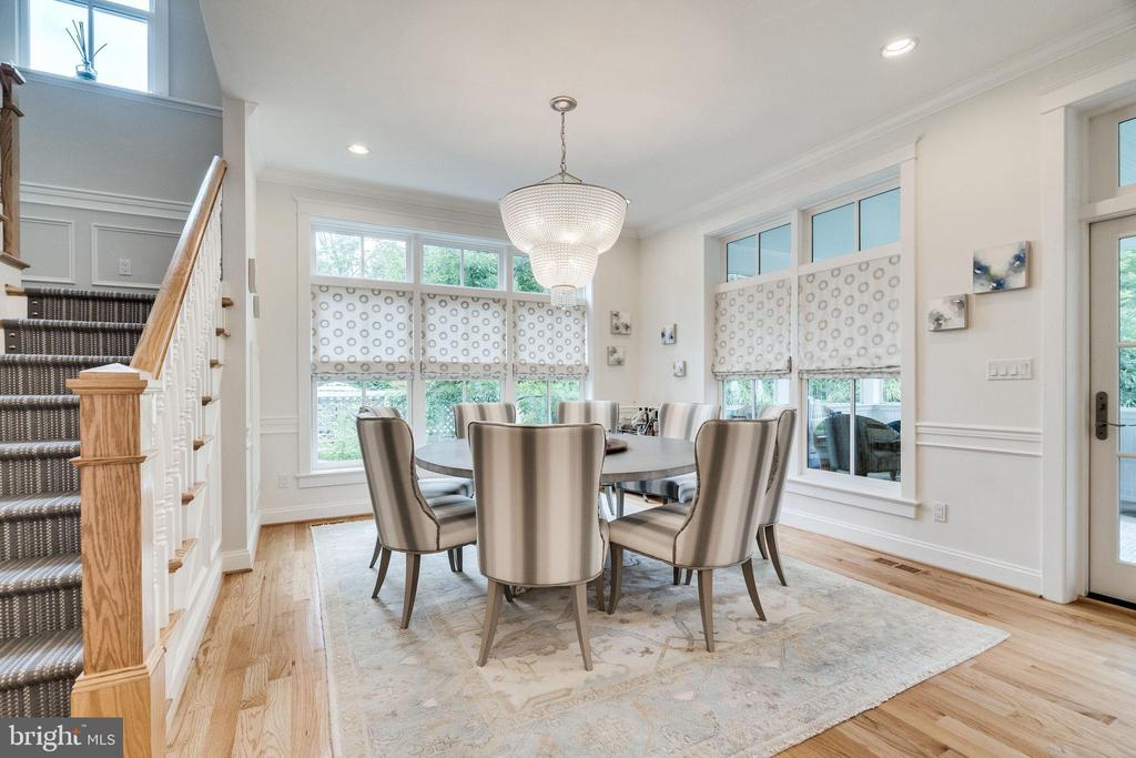 Fabulous outdoor views from dining room windows - 6221 ARKENDALE RD, ALEXANDRIA