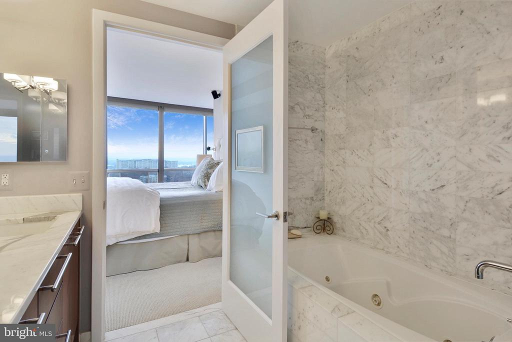 You even have a view from the master bath! - 2001 15TH ST N #1104, ARLINGTON
