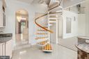 Staircase in Kitchen - 3714 FAIRWAYS CT, FREDERICKSBURG