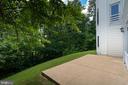 Rear View with Patio - 3714 FAIRWAYS CT, FREDERICKSBURG