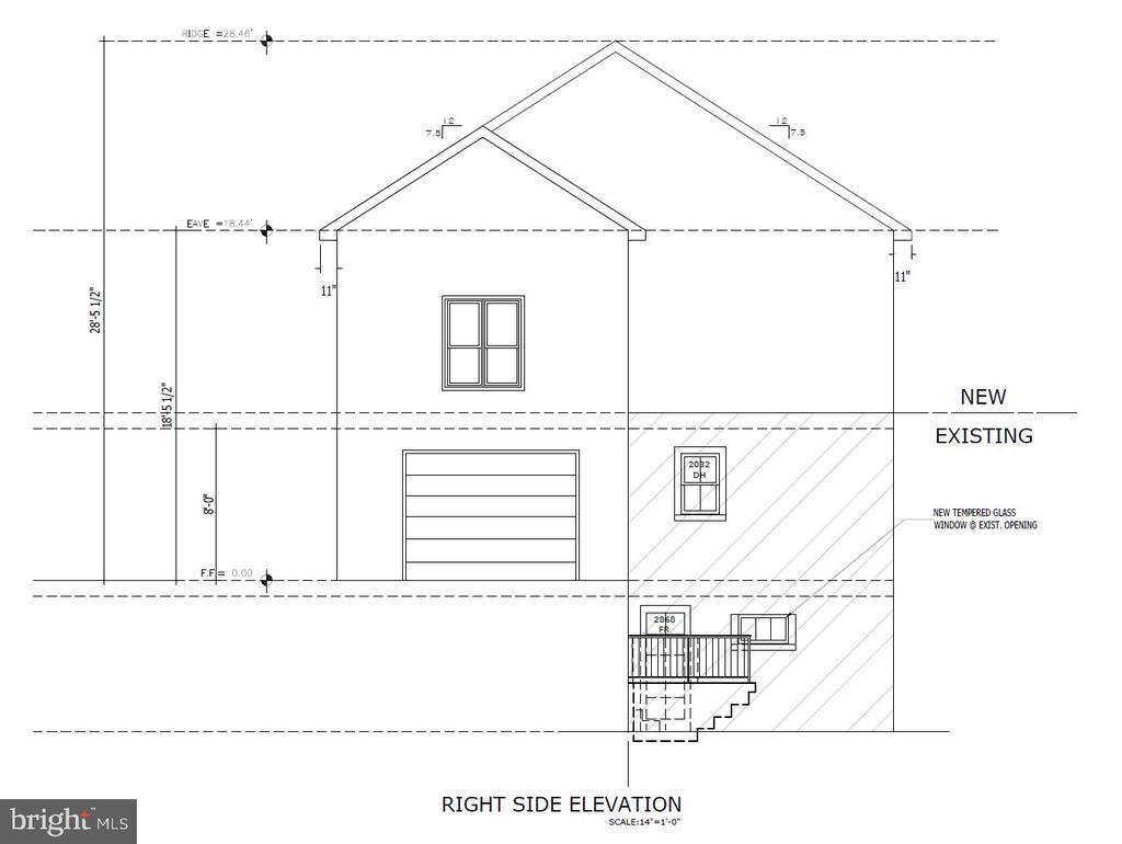 Right Side Elevation - 5148 11TH ST S, ARLINGTON