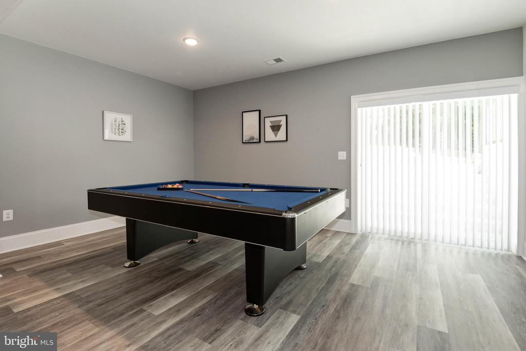 Billiard Area with Double Door walk Up - 1057 MARMION DR, HERNDON