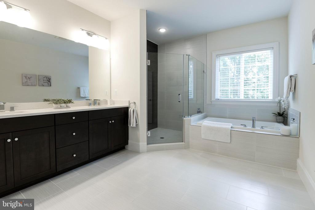Master Bath with Double Vanities - 1057 MARMION DR, HERNDON