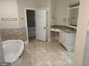 Large Soaking tub in masert - 11400 QUAILWOOD MANOR DR, FAIRFAX STATION