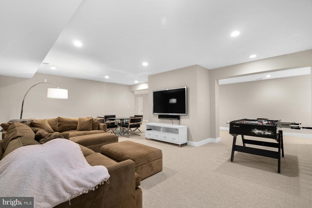 Lower Level Recreation Room - 10700 RED BARN LN, POTOMAC