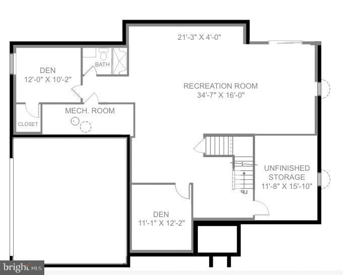 Lower Level Floor Plan - 41684 WAKEHURST PL, LEESBURG